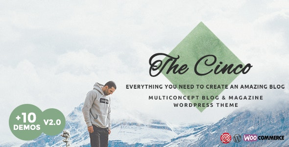 Cinco v1.0 — Multi-Concept Elegant WordPress Blog Theme