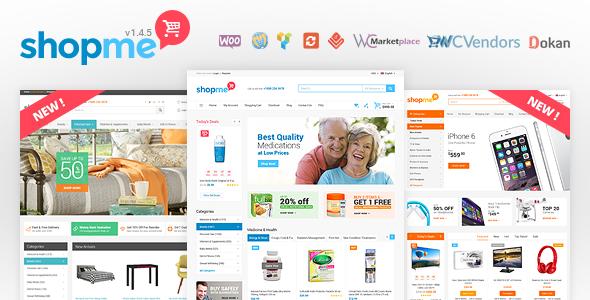 ShopMe v1.5.1 — Woocommerce WordPress Theme