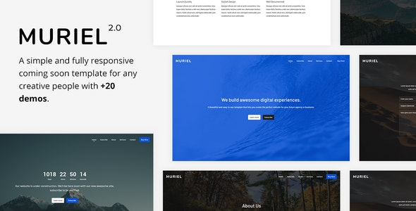 Muriel v2.0 — Responsive Coming Soon Template