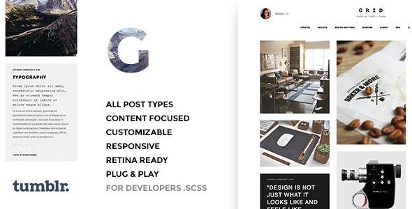 Grid v3.0.2 — Responsive Portfolio — Tumblr Theme