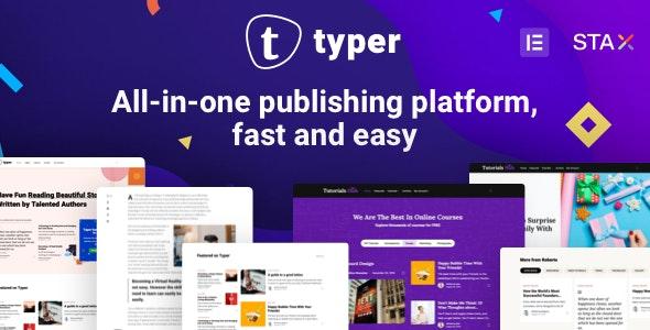 Typer v1.3.0 — Amazing Blog and Multi Author Publishing Theme