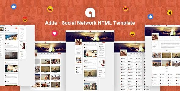 Adda v1.0 — Social Network HTML Template