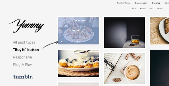 Yummy v1.1.1 — Creative Portfolio Tumblr Theme
