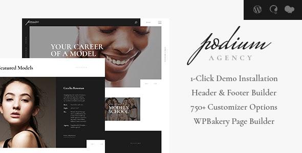 Podium v1.1.2 — Fashion Model Agency WordPress Theme