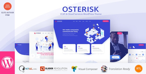 Osterisk v1.7 — VOIP & Cloud Services WordPress Theme