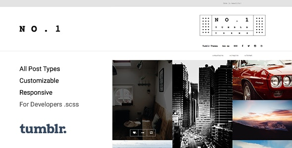 NO.1 v1.0.7 — Creative Portfolio Tumblr Theme