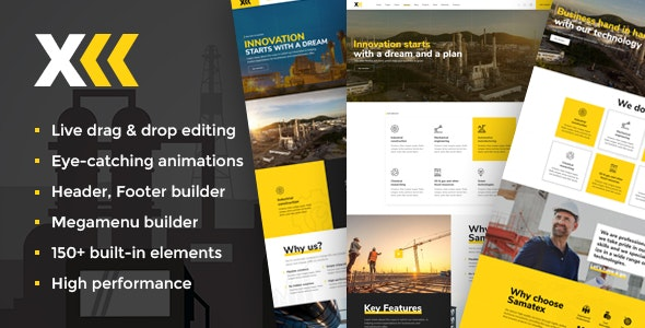 Samatex v1.7 — Industrial WordPress Theme + Woocommerce