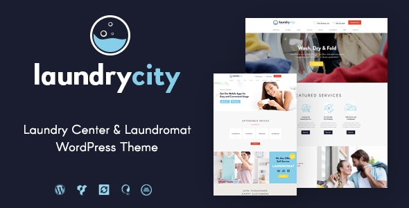 Laundry City v1.2.6 — Dry Cleaning & Washing Services WordPress Theme
