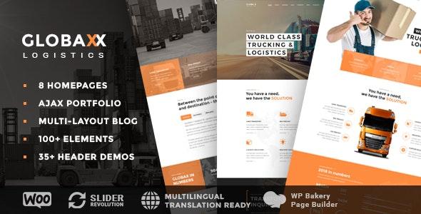 Globax v2.0 — Logistics WordPress Theme + Woocommerce