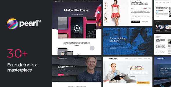 Pearl WP v3.1.1 — Corporate Business WordPress Theme
