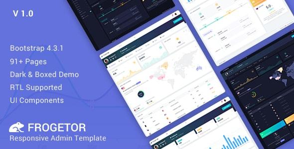 Frogetor v1.0 — Responsive Admin Dashboard Template