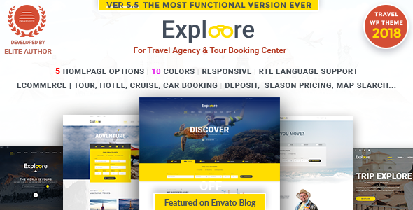 EXPLOORE v5.8 — Tour Booking Travel WordPress Theme