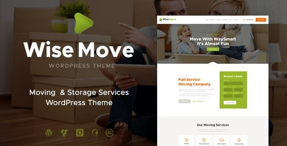 Wise Move v1.1.4 — Relocation and Storage Services WordPress Theme