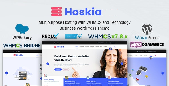 Hoskia v2.4 — Multipurpose Hosting with WHMCS Theme