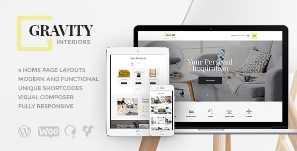 Gravity v1.2.4 — A Contemporary Interior Design & Furniture Store WordPress Theme