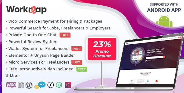 Workreap v1.3.6 — Freelance Marketplace WordPress Theme