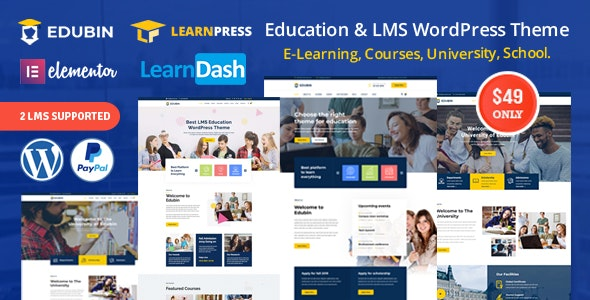 Edubin v3.0.5 — Education LMS WordPress Theme