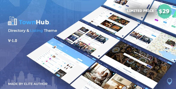 TownHub v1.0.6 — Directory & Listing WordPress Theme