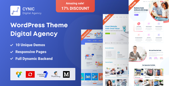 Cynic v1.10 — Digital Agency WordPress Theme