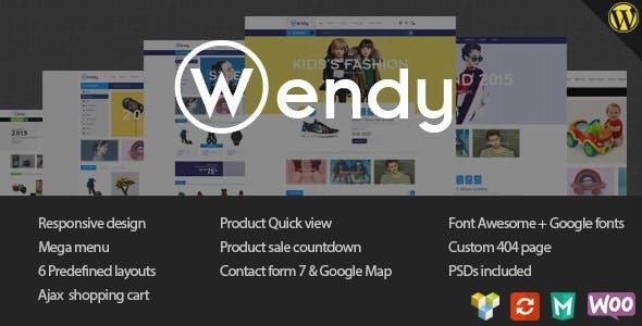 Wendy v1.6.3 — Multi Store WooCommerce Theme