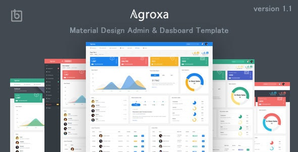 Agroxa v1.0 — Material Design Admin & Dashboard Template