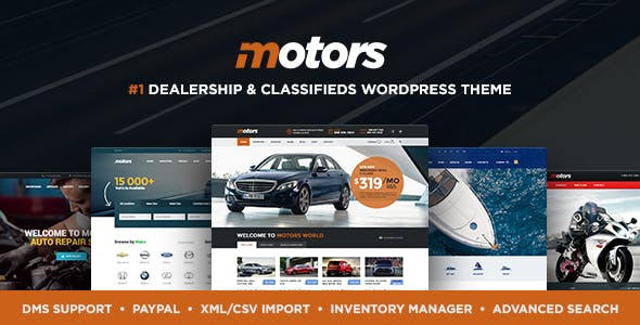 Motors v4.6.5 — Automotive, Cars, Vehicle, Boat Dealership