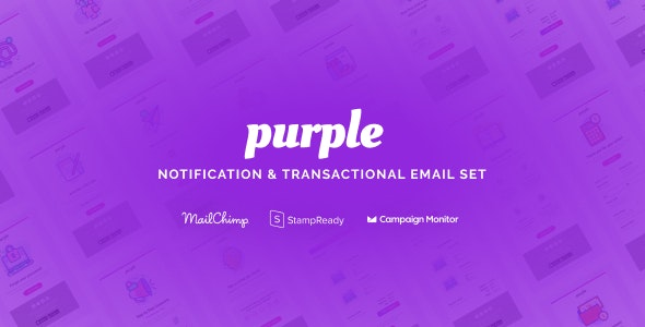 Purple v1.0.1 — Notification & Transactional Email Templates