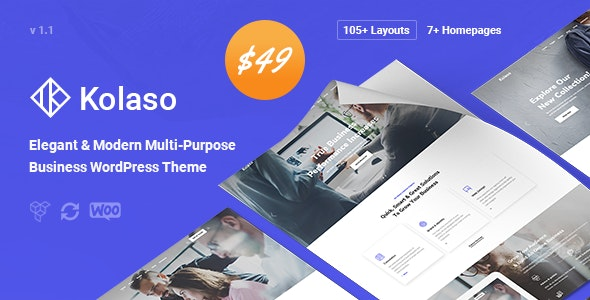 Kolaso v1.2.0 — Modern Multi-Purpose WordPress Theme
