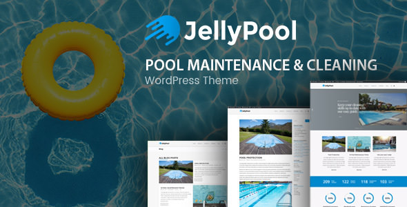 JellyPool v1.2.2 — Pool Maintenance & Cleaning Theme