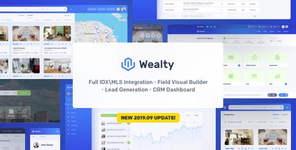 Wealty v3.0 — Multipurpose Real Estate WordPress Theme