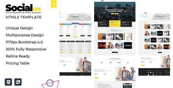 Social Net v1.0 — Corporate Networking Connection HTML5 Template