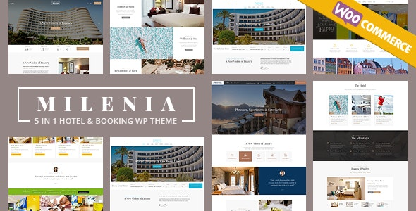 Milenia v1.1.8 — Hotel & Booking WordPress Theme