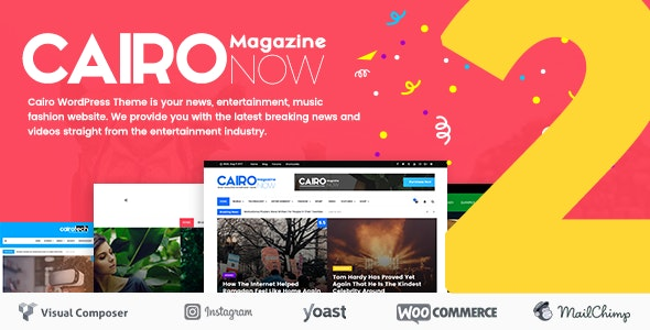 Cairo v2.1 — Newspaper & Magazine WordPress Theme
