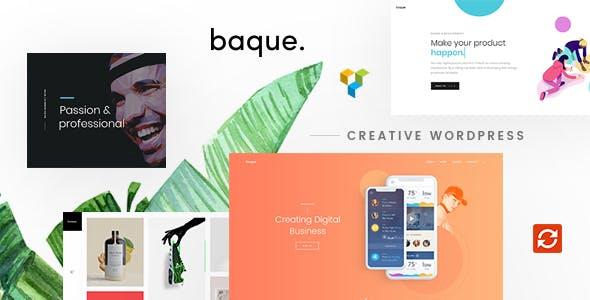 Baque v1.0.7 — Multipurpose Onepage Creative WP Theme
