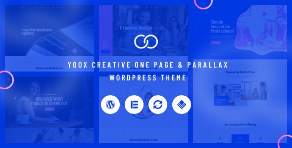 Yoox v1.0 — Creative One Page & Parallax WordPress Theme