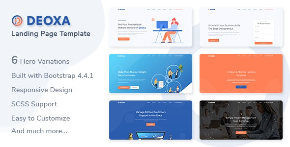 Deoxa v1.0 — Landing Page Template