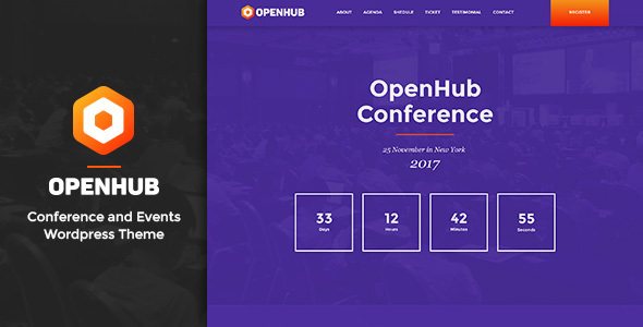 OpenHub v1.4 — A Stylish Events & Conference Theme