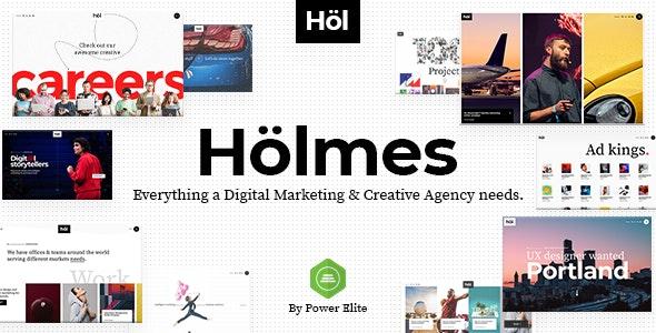 Holmes v1.2 — Digital Agency Theme