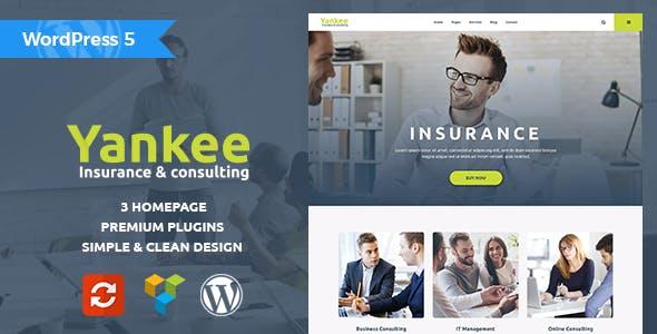 Yankee v1.2 — Insurance & Consulting WordPress Theme