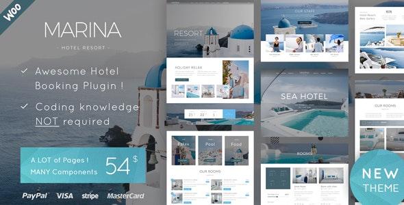 Marina v1.4 — Hotel & Resort WordPress Theme