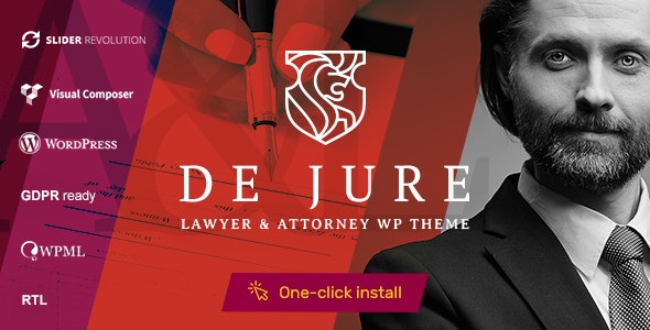 De Jure v1.0.8 — Attorney and Lawyer WP Theme