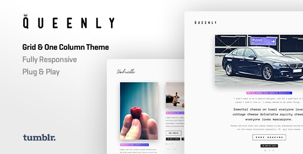 Queenly v1.0.5 — Grid & One Column Tumblr Themes
