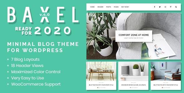 Baxel v4.0 — Minimal Blog Theme for WordPress