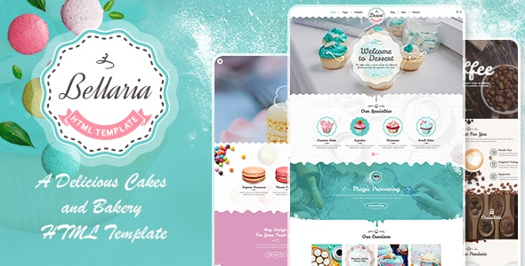 Bellaria v1.0 — A Delicious Cakes and Bakery HTML Template
