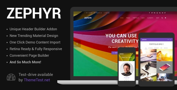 Zephyr v7.1 — Material Design Theme