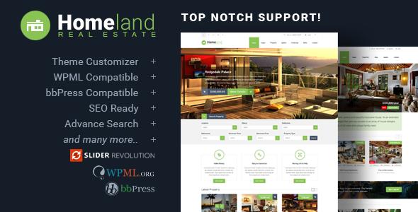 Homeland v3.3.0 — Responsive Real Estate Theme