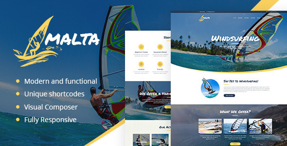 Malta v1.1.2 — Windsurfing, Kitesurfing & Wakesurfing Center Theme