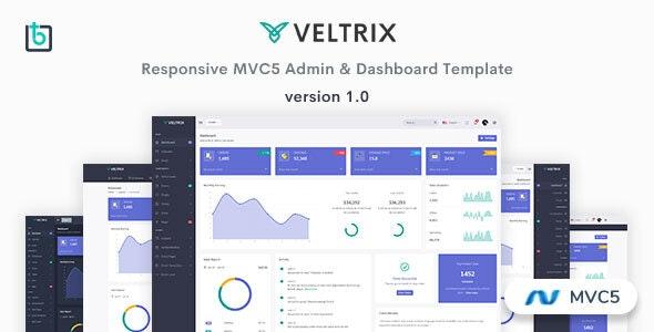 Veltrix v1.0 — MVC5 Admin & Dashboard Template