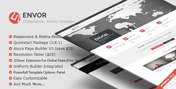 Envor v3.1.0 — Fully Multipurpose Joomla Template