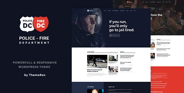 Police & Fire Department and Security Business v1.3 — WordPress Theme